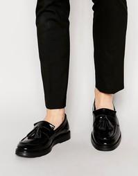 Черные кожаные лоферы с кисточками ASOS - Черный