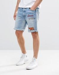 Светлые джинсовые шорты с вышивкой Levi's 501 CT Q - Q Levi's®