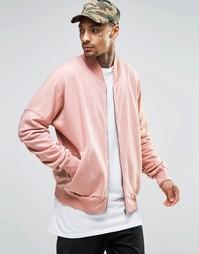 Куртка-пилот с присборенными рукавами Granted - Розовый