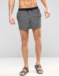 Короткие шорты для плавания с геометрическим принтом ASOS - Белый