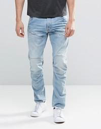 Светлые зауженные джинсы с эффектом поношенности G-Star Elwood 5620 3D