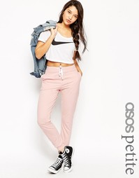 ASOS PETITE Basic Joggers with Contrast Tie - Телесный