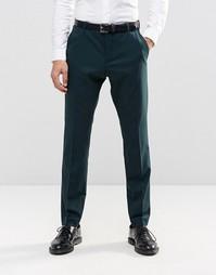 Узкие брюки стретч Selected Homme - Бутылочный зеленый