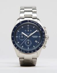 Часы из нержавеющей стали с хронографом Fossil CH3030 - Серебряный