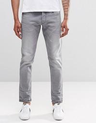 Серые джинсы слим с потертостями Replay Ronas - Умеренный серый
