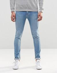 Светлые джинсы скинни LDN DNM - Синий