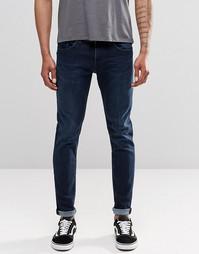 Темные плотные стретчевые джинсы скинни Replay Jondrill 3D