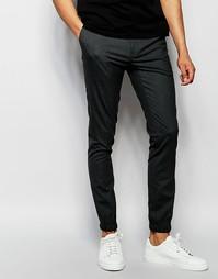 Супероблегающие спортивные брюки ASOS - Угольный
