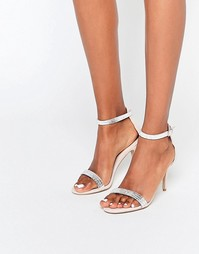 Сандалии на каблуке телесного цвета с отделкой Carvela Giselle