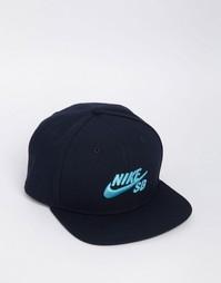 Синяя кепка Nike SB Icon 628683-478 - Синий