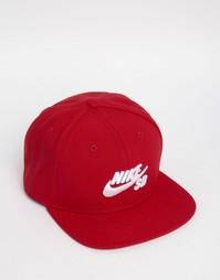 Красная кепка Nike SB Icon 628683-690 - Красный
