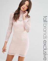 Платье-футляр из прозрачного кружева TFNC Tall - Blush