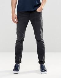 Узкие состаренные темные джинсы G Star 3301 - Серый