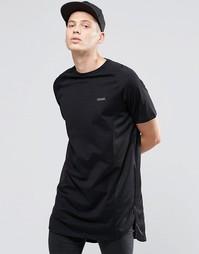 Однотонная длинная футболка Criminal Damage - Черный