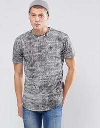 Удлиненная футболка с принтом Criminal Damage - Черный