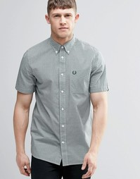 Fred Perry Shirt In Slim Fit In Gingham Check Short Sleeves - Плющ