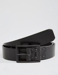 Черный кожаный ремень Royal RepubliQ Lava - Черный