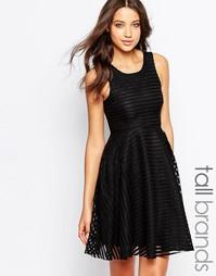 Короткое приталенное платье из кружева Vero Moda Tall - Черный