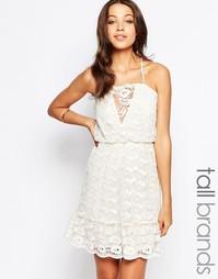Кружевное платье на бретельках Vero Moda Tall - Античный белый