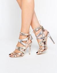 Золотистые сандалии на каблуке с оттенком металлик Miss KG Frenchy