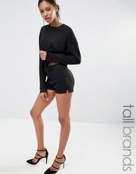 Джинсовые шорты с завышенной талией Missguided Tall - Черный