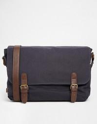 Темно-синий портфель с контрастными ремешками ASOS - Темно-синий