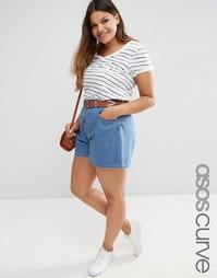 Джинсовая юбка-шорты ASOS CURVE - Синий