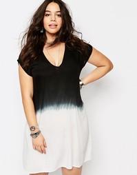 Цельнокройное платье с эффектом деграде Diya Plus - С эффектом деграде