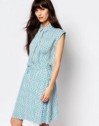 Блузка без рукавов и с принтом Just Female Shary - Синий