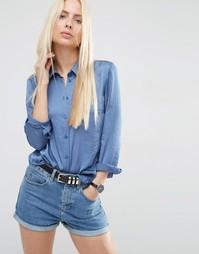 Атласная блузка ASOS - Синий
