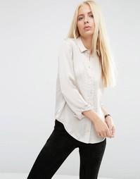 Атласная блузка ASOS - Бежевый