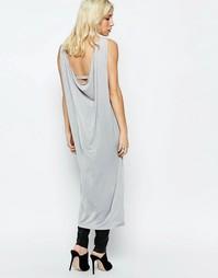 Платье с драпировкой сзади Neon Rose - Серый