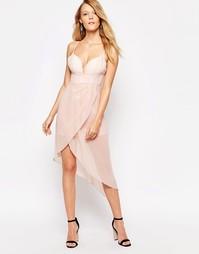 Платье на бретельках с драпировкой Glamorous - Светло-розовый