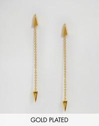 Серьги-подвески с цепочками Gorjana Takara - Золотой