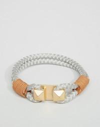 Серый веревочный браслет Icon Brand - Серый