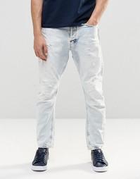 Светлые джинсы G Star Type C 3D - Синий