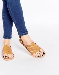 Кожаные сандалии с ремешками Park Lane - Рыжий