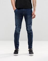 Темные джинсы слим G Star 5620 3D - Темно-синий