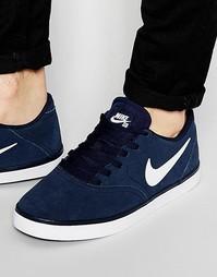 Кроссовки в клетку Nike SB 705265-410 - Синий
