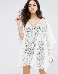 Пляжное платье в стиле кроше Melissa Odabash Ignes - Кремовый