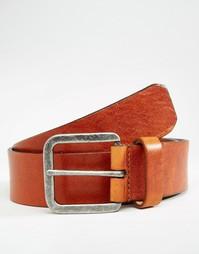 Коричневый кожаный ремень Royal RepubliQ Connect - Коричневый