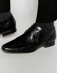 Черные кожаные туфли дерби Frank Wright - Черный