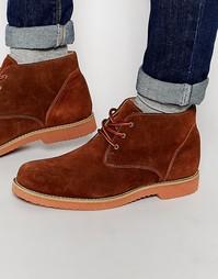 Светло-коричневые замшевые дезерты Frank Wright - Рыжий