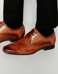 Светло-коричневые кожаные туфли дерби Frank Wright - Рыжий