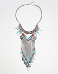 Броское ожерелье Ashiana - Серебряный
