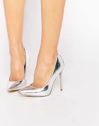 Серебристые туфли‑лодочки Public Desire Josie - Серебряный