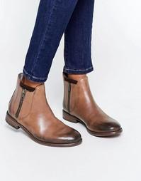 Коричневые кожаные ботинки Hudson London Algoma - Серебряный