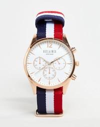 Часы-хронограф с белым циферблатом и парусиновым ремешком Reclaimed Vi