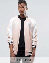 Куртка-пилот Reclaimed Vintage Souvenir - Розовый