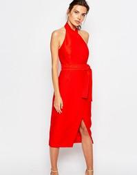 Платье-футляр с лямкой через шею C/meo Collective - Scarlet